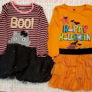 BUNDLED Halloween toddler girl clothes. 3T